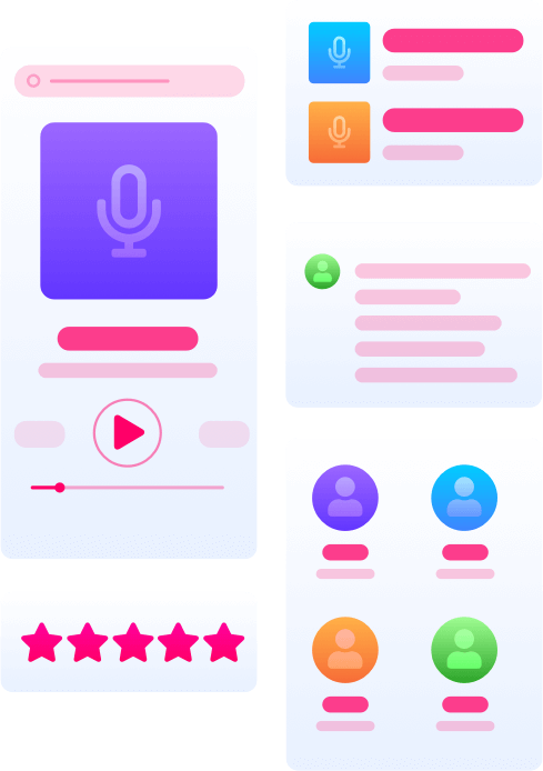 """The podcast API that does <span style=""""color:#ff0065;"""">everything</span>."""